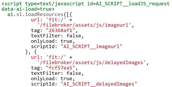 Google crawls the URLs in this script